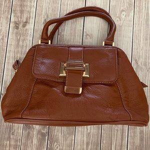 Liz Claiborne Brown Leather Purse Handbag Used